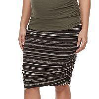 Maternity a:glow Ruched Pencil Skirt