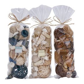 Coastal Living Beach Vase Filler 3-piece Set