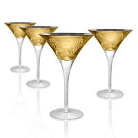 Artland Brocade 4-pc. Martini Glass Set