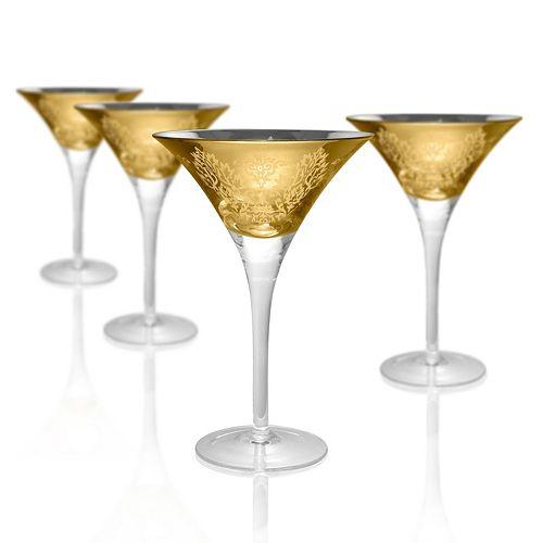 Artland Brocade 4-pc. Martini Glass Set