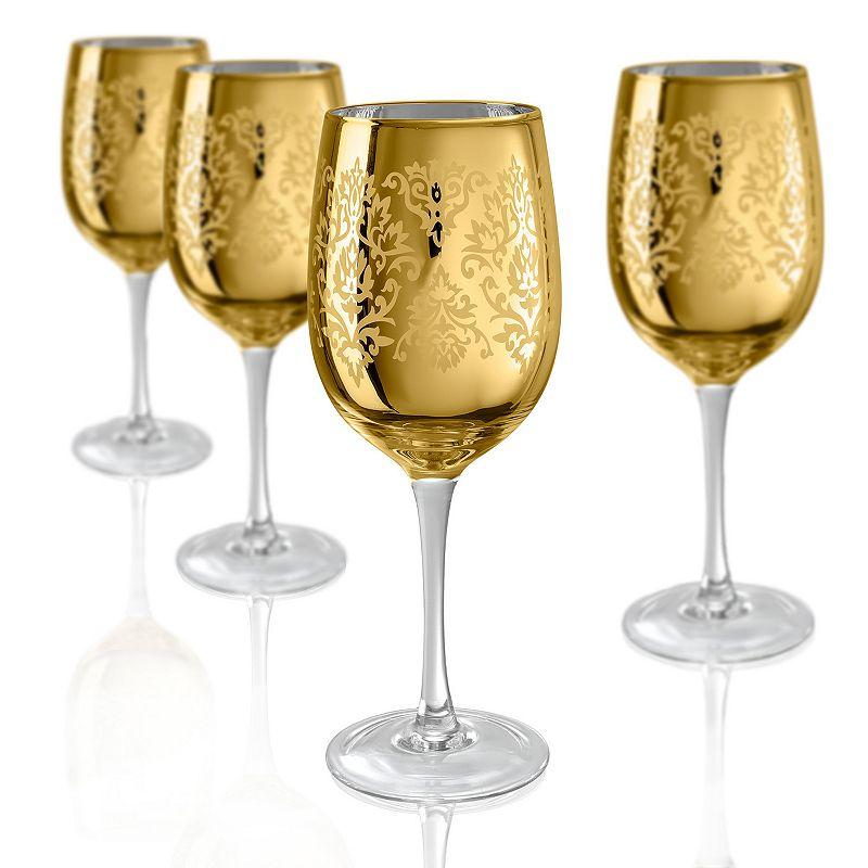 Artland Brocade 4-pc. Wine Glass Set, Gold
