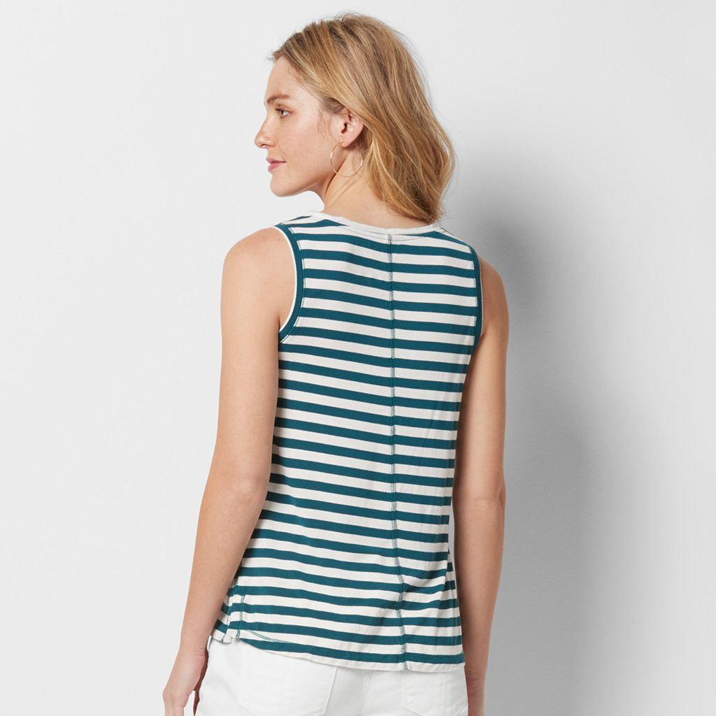 Women's SONOMA Goods for Life™ Striped Scoopneck Tank