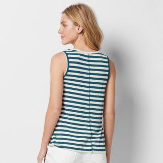 Women's SONOMA Goods for Life™ Striped Scoopneck Tank