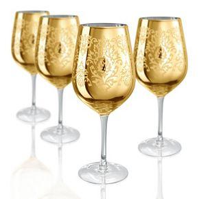 Artland Brocade 4-pc. Goblet Glass Set