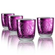 Artland Brocade 4 pc Double Old-Fashioned Glass Set