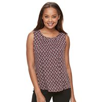 Petite Croft & Barrow® Printed Shirred Tank
