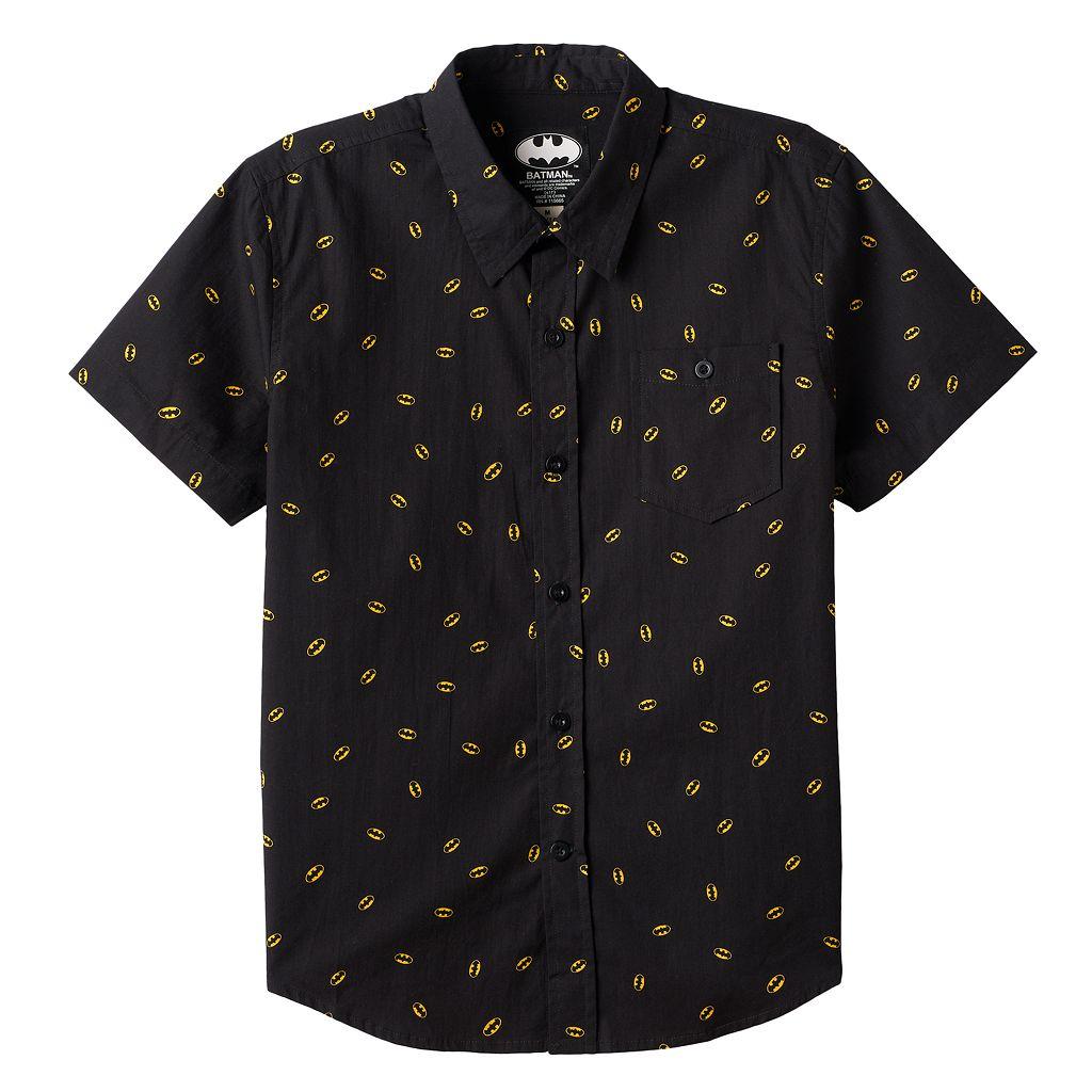 Boys 8-20 DC Comics Batman Button-Down Shirt