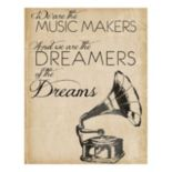 """""""Music Makers"""" Canvas Wall Art"""