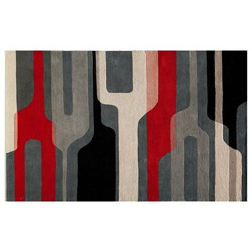 Momeni Delhi Retro Geometric Wool Rug