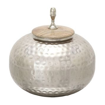 New Traditional Hammered Urn Table Decor