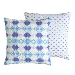Amy Sia Pastel Diamond Square Throw Pillow