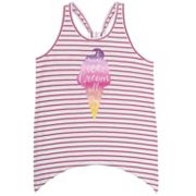 Girls 4-6x French Toast Handkerchief Hem Tank Top