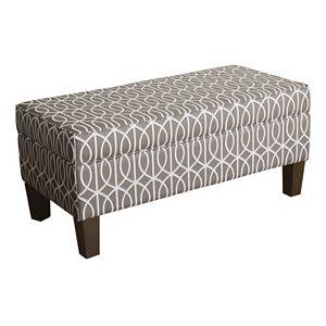 HomePop Finley Geometric Storage Bench