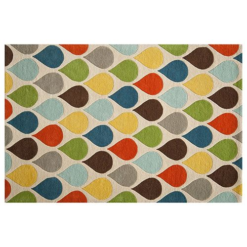 Momeni Delhi Teardrop Geometric Wool Rug