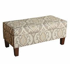 HomePop Suri Ikat Medallion Storage Bench