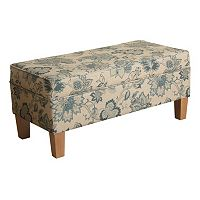 HomePop Lexie Floral Storage Bench