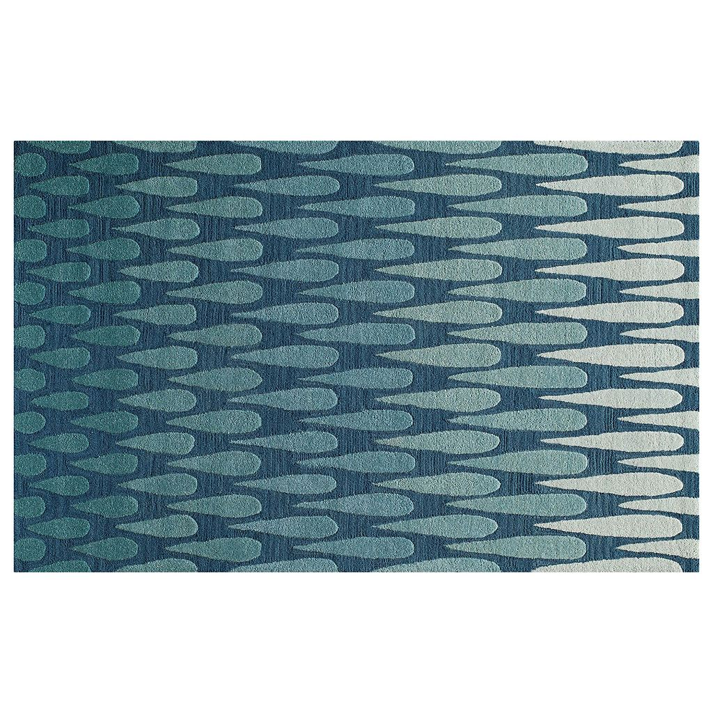 Momeni Dunes Raindrop Geometric Wool Rug