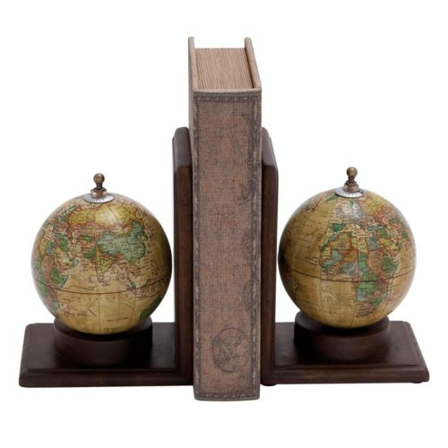 New Traditional Globe Bookends 2-piece Set