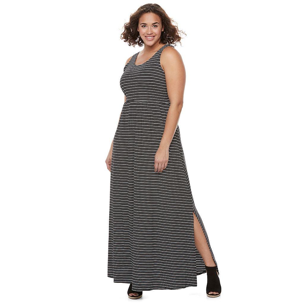 Juniors' Plus Size SO® Crossback Maxi Dress