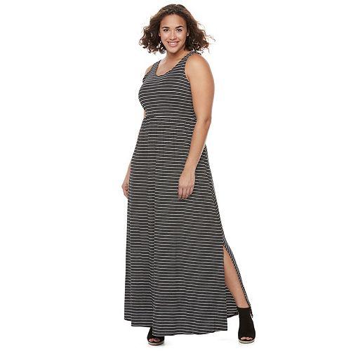 Juniors\' Plus Size SO® Crossback Maxi Dress