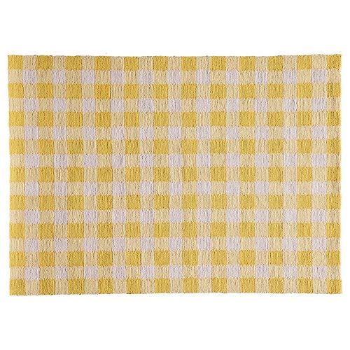 Yellow Checkered Rug: Momeni Geo Gingham Rug