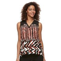 Women's Dana Buchman Printed Crochet-Trim Top