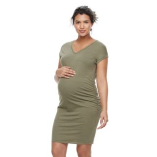 Maternity a:glow Ruched T-Shirt Dress