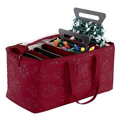 Seasons Christmas Lights Storage Duffel Bag