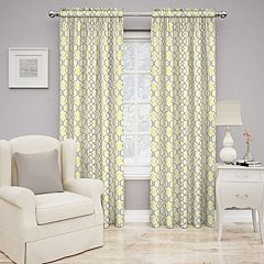 Traditions by Waverly 1-Panel Waves Window Curtain