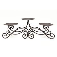 Scroll Candelabra Pillar Candle Holder