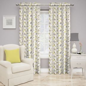 Traditions by Waverly 2-pack Set In Spring Floral Window Curtain