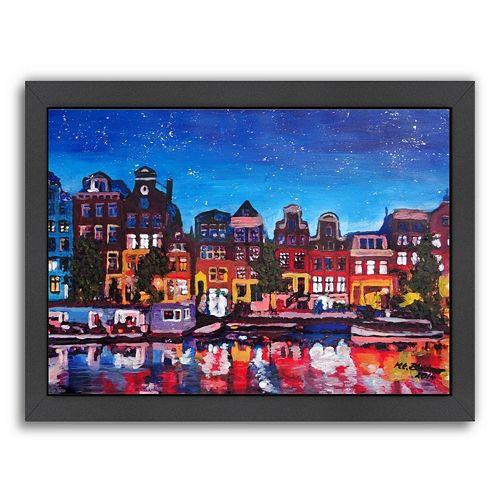 Americanflat Amsterdam Stars 2 Framed Wall Art