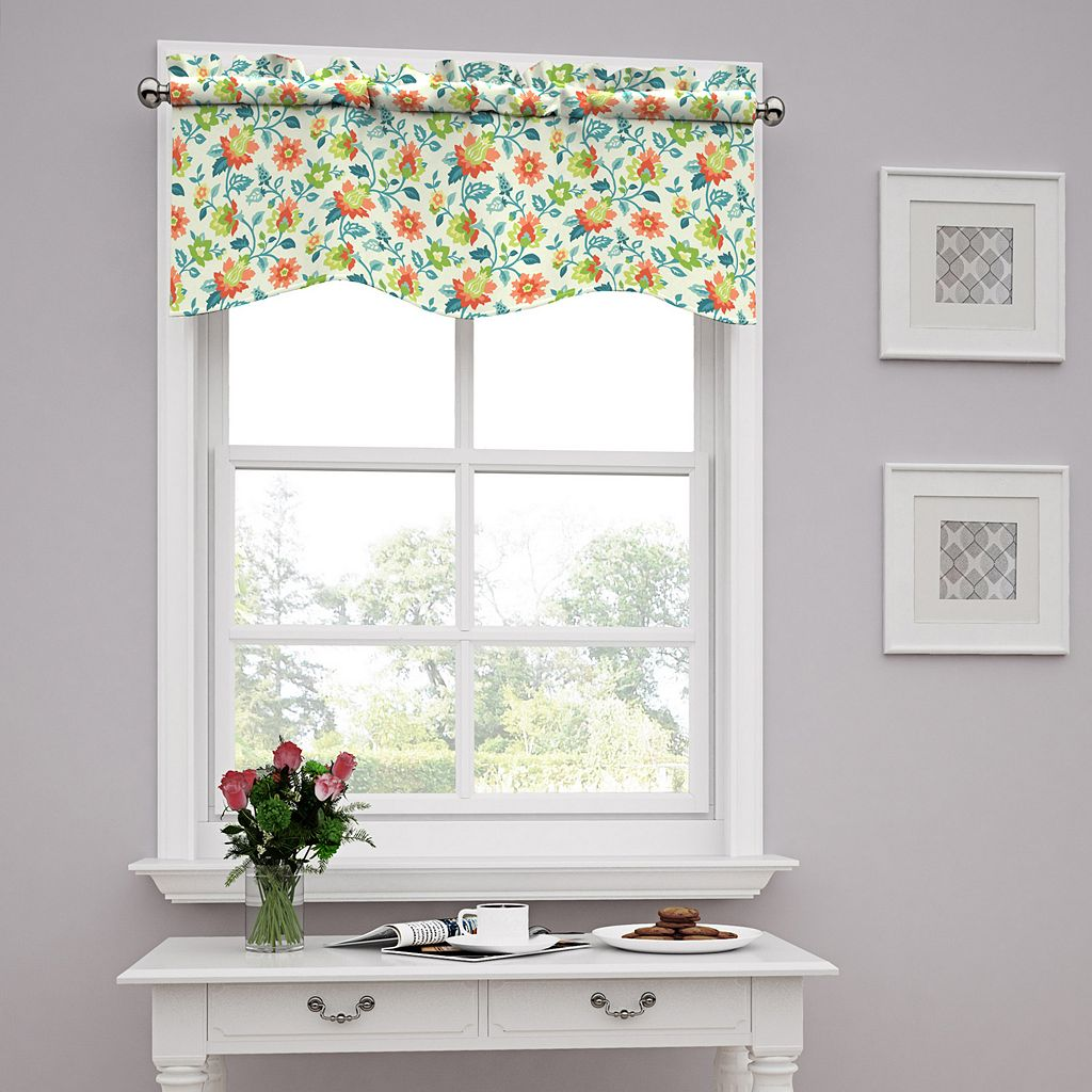 Traditions by Waverly Set In Spring Wave Window Valance