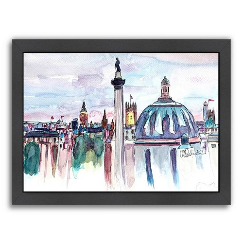 Americanflat London Skyline Framed Wall Art