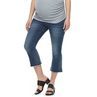 Maternity a:glow Belly Panel Cropped Flare Jeans