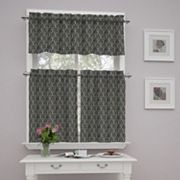 Traditions by Waverly Strands Tier & Valance Kitchen Window Curtain Set