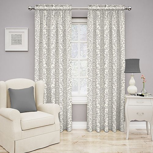 Traditions by Waverly 1-Panel Duncan Damask Window Curtain