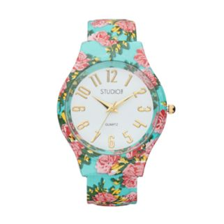 Studio Time Women's Floral Cuff Watch