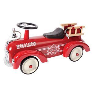 Schylling Metal Speedster Ride-On Fire Truck