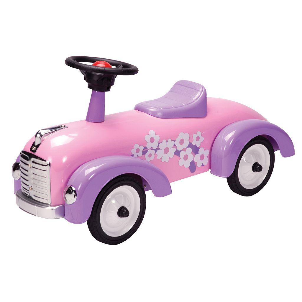 Schylling Metal Speedster Pink Ride-On Hot Rod
