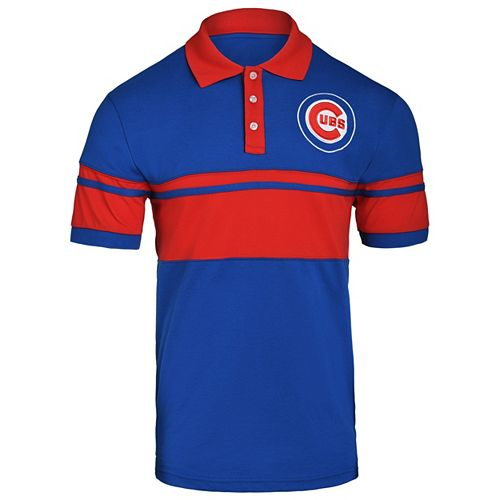 Men's Chicago Cubs Striped Polo