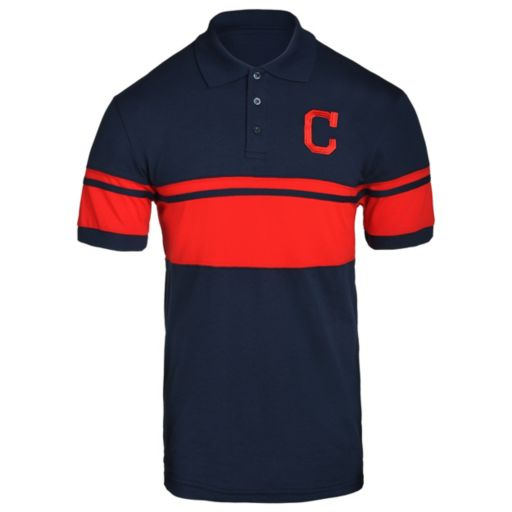 Men's Cleveland Indians Striped Polo