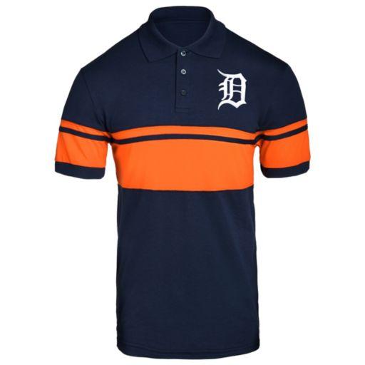 Men's Detroit Tigers Striped Polo