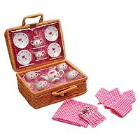 Schylling Butterfly Tea Set & Basket
