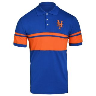 Men's New York Mets Striped Polo