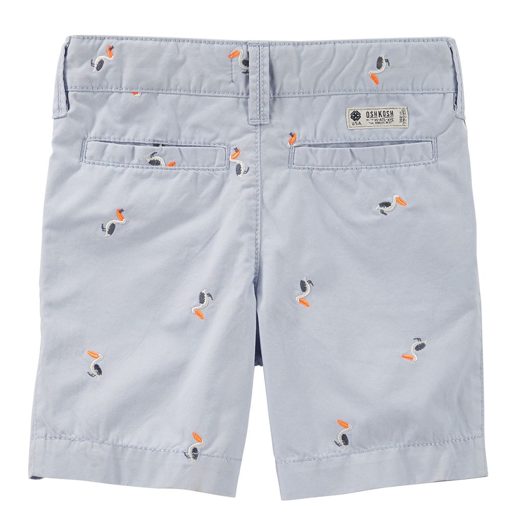 Toddler Boy OshKosh B'gosh Schiffli Embroidered Pattern Dock Shorts