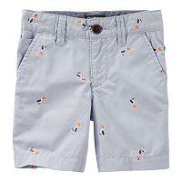Toddler Boy OshKosh B'gosh Schiffli Embroidered Pattern Dock Shorts