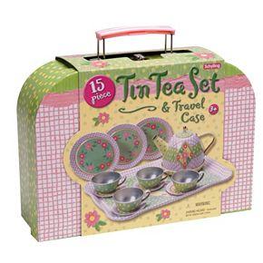 Schylling Children's Tin Tea Set with Travel Case