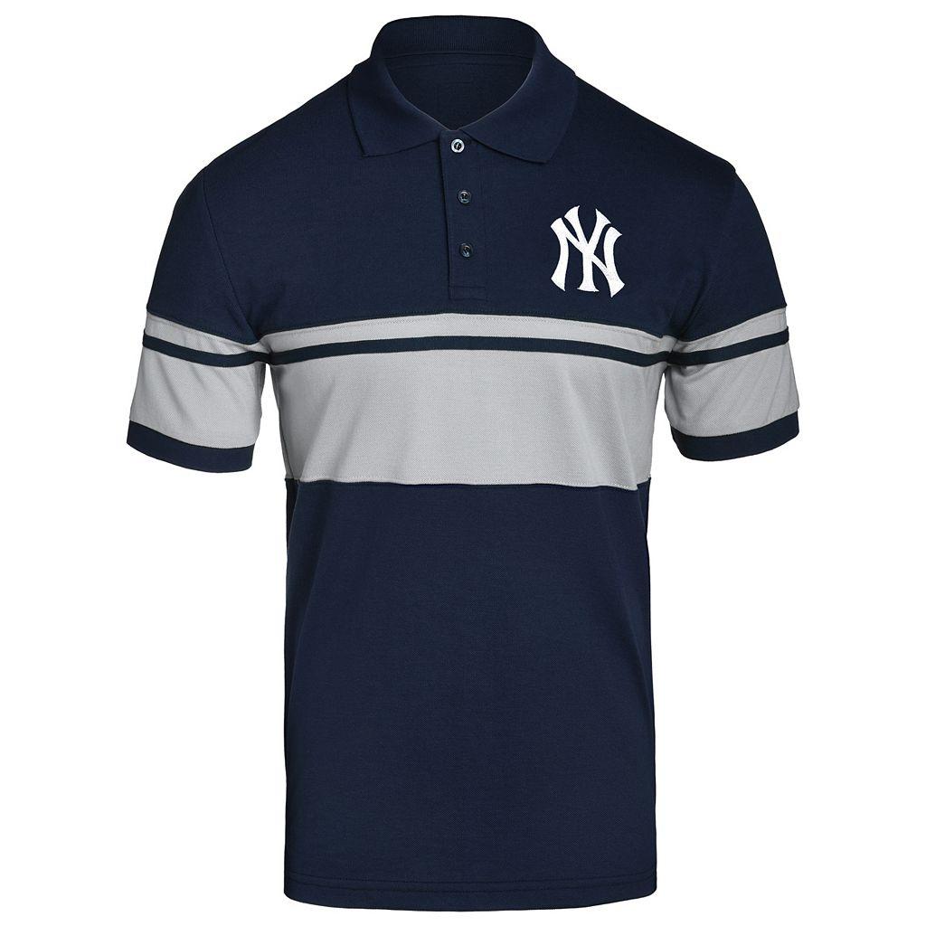 Men's New York Yankees Striped Polo