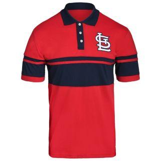 Men's St. Louis Cardinals Striped Polo